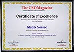 The CEO Magazine Awarded Matrix